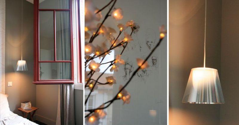 Rénovation d'un appartement ancien modernisé par parquet noir, papier-peint Elitis et suspensions Flos  - Julie Béringué Architecte d'intérieur à Toulouse