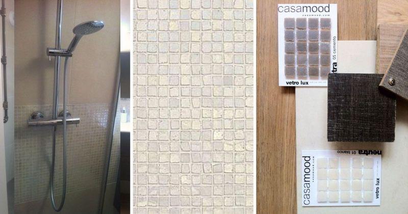 Décoration d'un appartement, salle de bain en pâte de verre Casa Dolce Casa et Diamante Atlas Concorde  - Julie Béringué Architecte d'intérieur à Toulouse