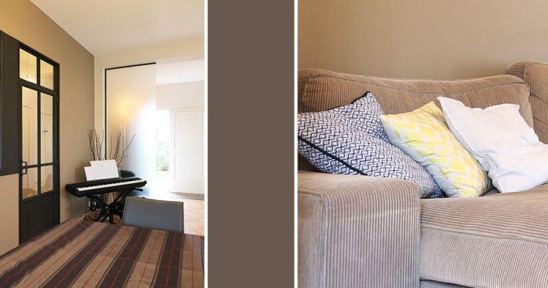 Embellissement d'une maison avec cuisine ouverte sur séjour par menuiserie style atelier, parements en marbre et suspensions en cuivre - Julie Béringué Architecte d'intérieur à Toulouse