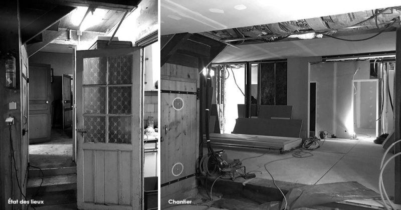 Côte Pavée, Restauration maison ancienne, Toulousaine, travaux Julie Béringué Architecte d'intérieur à Toulouse