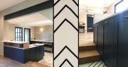 Côte Pavée, Restauration maison ancienne, Toulousaine, cuisine rétro bistrot, carrelage graphique,  Julie Béringué Architecte d'intérieur à Toulouse